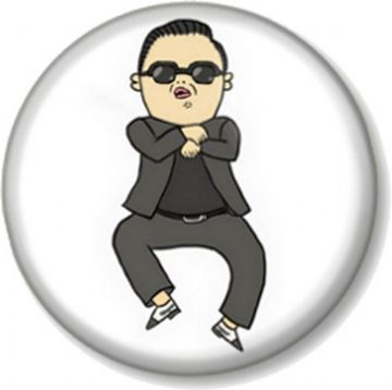 GANGNAM STYLE Pinback Button Badge Dance Pop star song PSY South Korea Fun Novelty